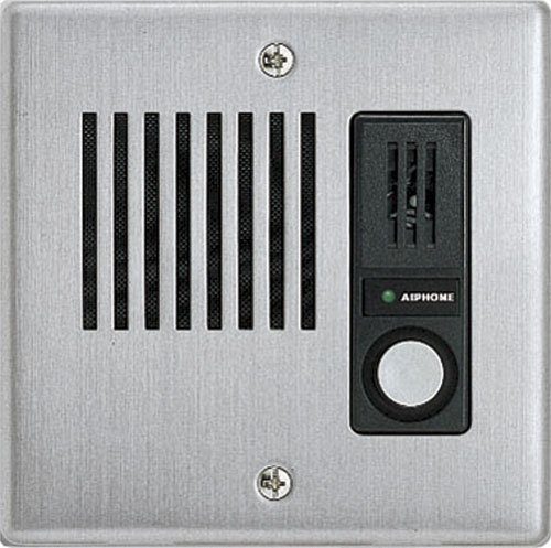 Aiphone Corporation IE-JA  Door Station for AX, IE, IPW-1A, KB, or TD-H Series, Stainless Steel Faceplate, 4-9/16