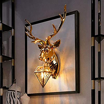 Modern Antler LED Wall Lamp Resin Wall Lamps Deer Lights