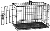 Cheap AmazonBasics Single-Door Folding Metal Dog Crate – 22 Inches