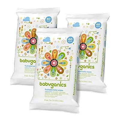 Babyganics Flushable Wipes, Fragrance Free
