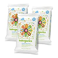 Babyganics Flushable Baby Wipes, Fragrance Free, 60 Count - Packaging May Var...