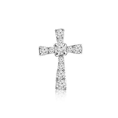dde303e3aa8 Amazon.com: MaBelle 18K White Gold Diamond Accent Tied Christian ...