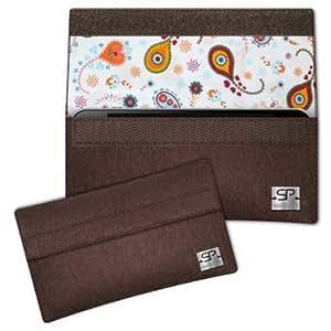 SIMON PIKE Cáscara Funda de móvil NewYork 10 marrón Samsung S5610 Primo Fieltro de lana
