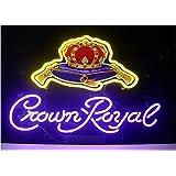 New Crown Royal Real Glass Beer Bar Display Neon Signs 19x15