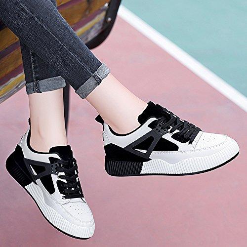 Estudiante NGRDX B Zapatos amp;G Black Casual Zapatos Zapatos and Blancos Zapatos Deportivos Mujeres White CtqH4xt