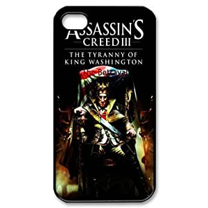 Hot Game Design 4 Assassin's Creed III Print Black Case With Hard Shell Cover for Apple iPhone 5/5S 3584329M19019506