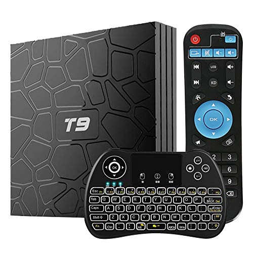 WISEWO Android 8.1 TV Box 4GB RAM 64GB ROM, [2019 Updated] Android Boxes Quad Core/ 64 Bits/ BT4.1/ H.265/ 3D UHD 6K…