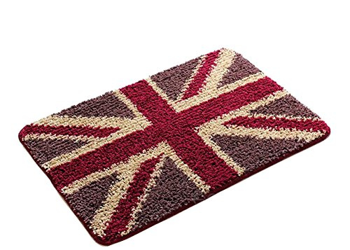 - Bedroom Carpet Kitchen Bathroom Non-slip Cotton Door Mat (40x60cm, British Flag)
