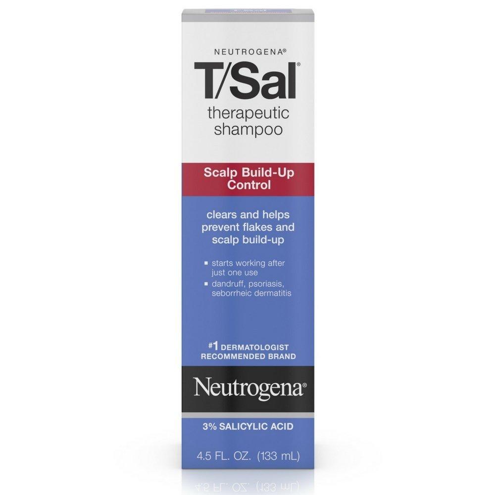 Neutrogena T/Sal Therapeutic Shampoo, Scalp Build-Up Control 4.5 oz (Pack of 3)