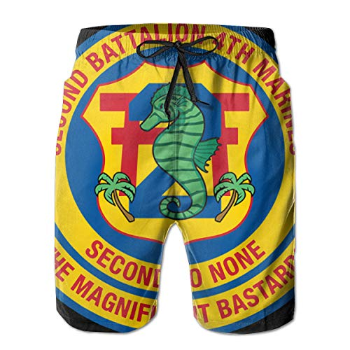 US Marine Corps 2nd Battalion, 4th Marines 3D Print Men's Beach Shorts Swim Trunks Workout Shorts Summer Shorts White