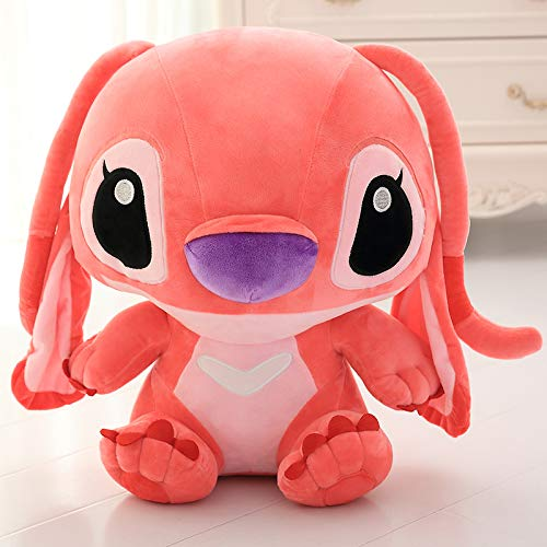Lilo and Stitch 33cm Stich Plush Toy Kawaii Stitch Plush Doll Toys Anime for Children Kids Birthday Gift (Pink) -