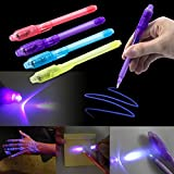 Toys : 4X UV Light Pen Invisible Ink Security Magic Marker