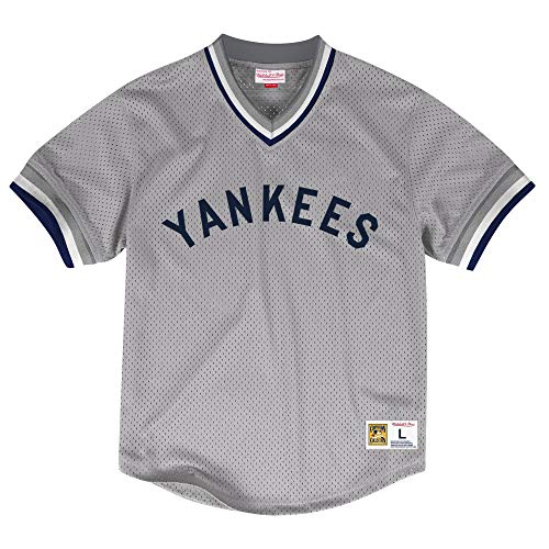 Mitchell & Ness New York Yankees MLB Men's Dinger Mesh Jersey Shirt - Gray