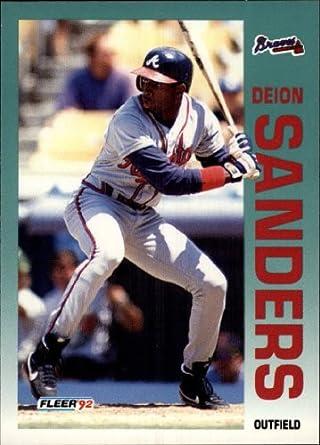 Amazoncom 1992 Fleer Baseball Card 368 Deion Sanders Near