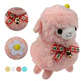 KSB 6'' Pink The Bell Plush Alpaca,100% Plush Stuffed Animals Toys,Best Birthday Gifts For The Children Kids