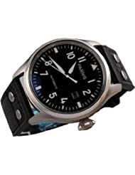 Fanmis 47mm Black Dial Big Pilots Automatic Mechanical Luxury Mens Wrist Watch Luminous Marks