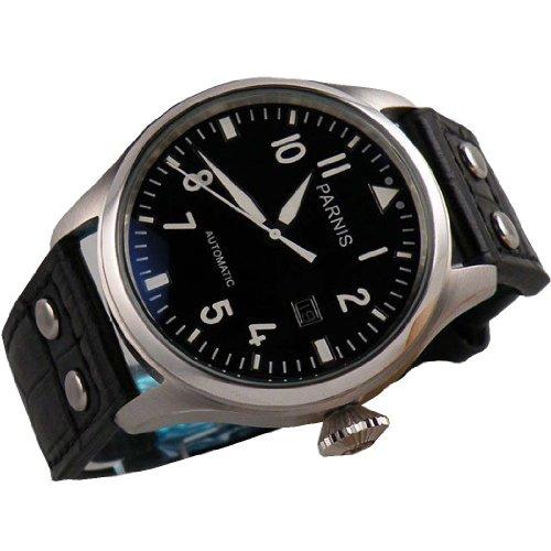Fanmis 47mm Black Dial Big Pilots Automatic Mechanical Luxury Men