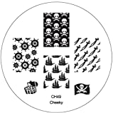 CH49 Professional Nail Art Salon Quality Stamp Template / Stamping Stencil / Image