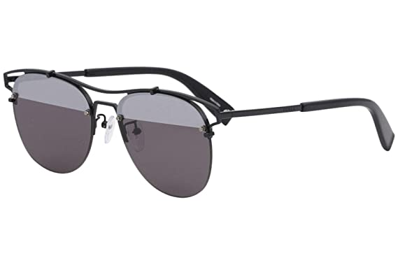 91c5f021a06a6 Image Unavailable. Image not available for. Color  Furla Women s SFU106 SFU  106 530H Black Fashion Pilot Sunglasses 56mm