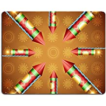 Liili Mouse Pad Natural Rubber Mousepad IMAGE ID: 15656314 vector festival cracker background illustration