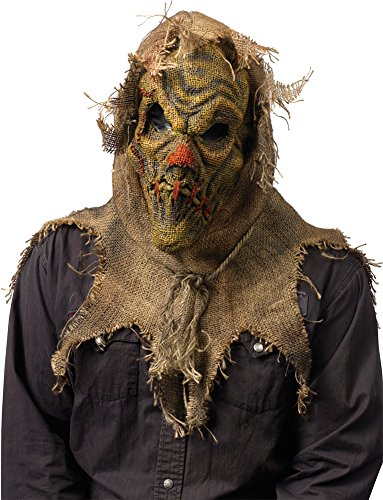 [Scarecrow Mask Natural - Halloween Mask] (Scary Scarecrow Halloween Costumes)