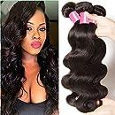 Sunber Hair Raw Brazilian Hair Body Wave, 3 Bundles /Lot , 100% Unprocessed Brazilian Virgin Human Hair Weaves (14 16 18)