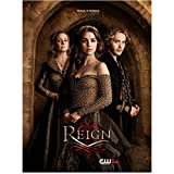 Adelaide Kane 8 Inch x 10 Inch Photograph Reign (TV Series 2013- 2017) Off Shoulder Dress in Front of & Between Megan Follows & Toby Regbo 'Peace is Fragile' Title Poster kn