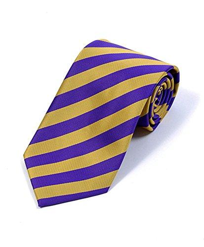 BG College Woven Purple & Gold Tie -