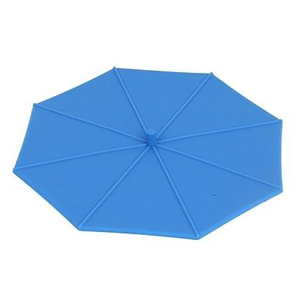 Copa silicón de la forma del paraguas de Café Té Agua Azul hermético de la cubierta