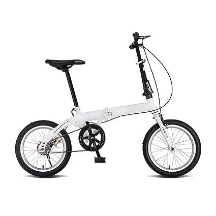 Grimk Bicicleta Plegable Unisex Adulto Aluminio Urban Bici Ligera Estudiante Folding City Bike con Rueda De