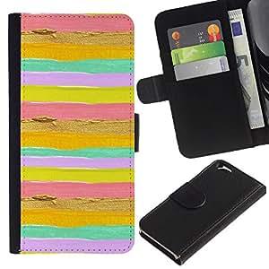 iKiki Tech / Cartera Funda Carcasa - Summer Sun Yellow Gold Pink - Apple iPhone 6