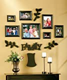 Family Tree Frame Set - 12 Pieces! BLACK