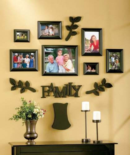 Amazoncom Family Tree Frame Set 12 Pieces Black Picture