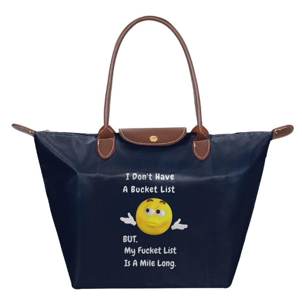 Adwelirhfwer Unisex I DON'T HAVE A BUCKET LIST Fitness Bag Navy