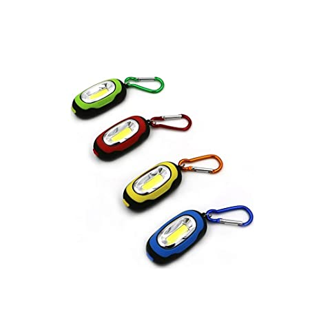 Portátil Mini Llavero Linterna de bolsillo 3 modos COB LED ...