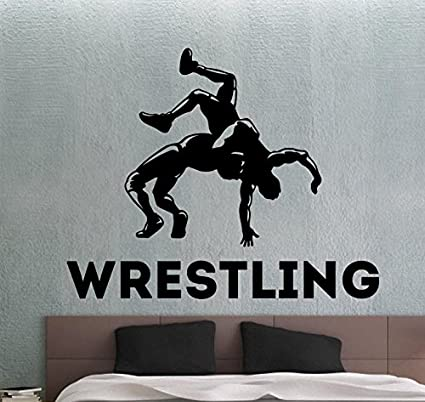 Wrestling Wall Decal Sports Stickers Home Interior Design Living Mesmerizing Wrestling Bedroom Decor