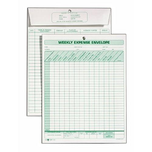 best tops weekly expense envelope 8 1 2 x 11 20 envelopes per pack