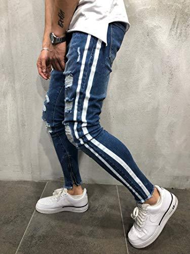 Déchirés Hommes À Blue2 Pour Denim Stretch En La hop Jeans Coupe Hip Pantalons Skinny 4Uw6xHq8