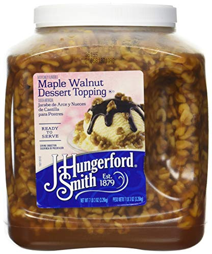 (J Hungerford Smith Maple Walnut Dessert Topping, 115 Oz Wide Mouth Jug, 3 Pack)