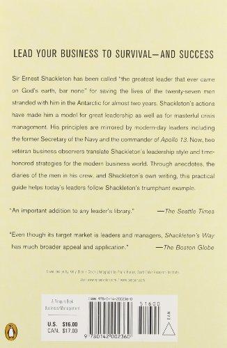 shackletons way leadership lessons from the Amazon配送商品ならshackleton's way: leadership lessons from the great antarctic explorerが通常配送無料。更にamazonならポイント還元本が多数.