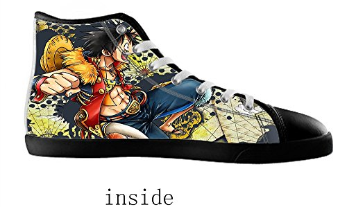 Canvas Shoes Style Black2 Women's Anime High Style Anime Top for Shoes Canvas Women qAW1wIU