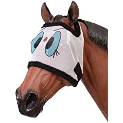 Tough-1 Novelty Ladybug Mesh Fly Mask Bonnet Without Ears (Yearling/Pony)