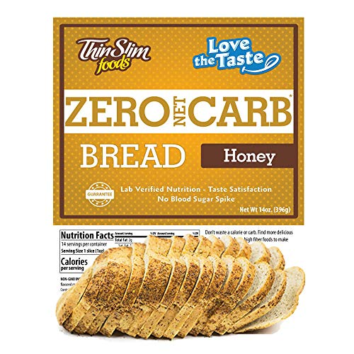 ThinSlim Foods 45 Calorie, 1g Net Carb, Love-The-Taste Low Carb Bread Honey