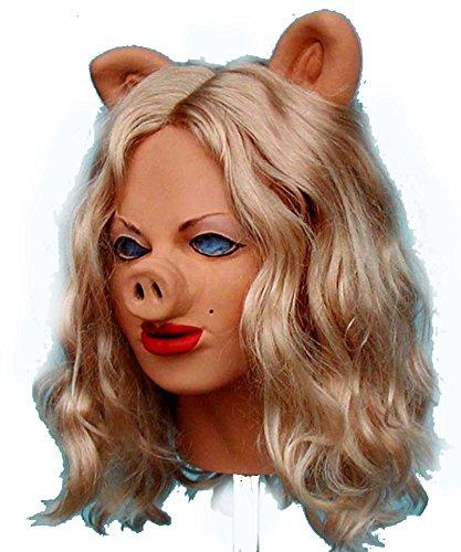 Piggy Sue Realistic Female Foam Pig Latex Mask (Foam Latex Mask)