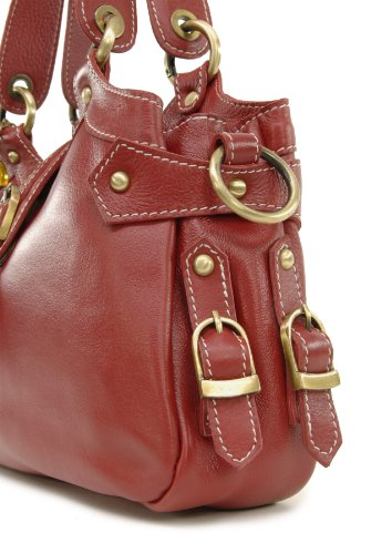 CATWALK COLLECTION - NICOLE - Bolso de hombro - Cuero Rojo