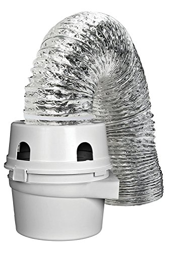 External Reservoir - LG External dryer ducting Hose - Fits Indoor Dryer Vent Kit with 4 Inches x 5 Foot Lint Trap With Lama BWR981355