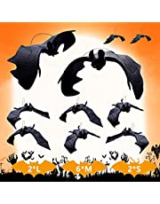 Supersfel Vleermuis voor Halloween – 10 stuks hangende vleermuizen, decoratie voor Halloween