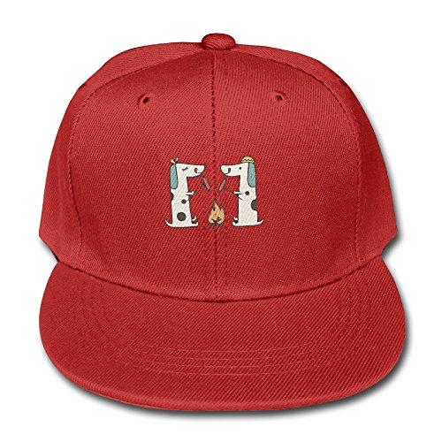 dachshund-wiener-cotton-baseball-cap-boys-girls-snapback-hip-hop-flat-hat-red