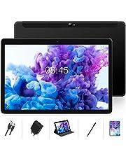 Tablet 10 Inch LTE + WIFI 4GB RAM 64GB ROM Android 10 MEBERRY Tablets, Dual SIM | 128GB uitbreidbaar | 8000 mAh | WI-FI | Bluetooth | GPS | 5.0 + 8.0 MP Camera, Zwart