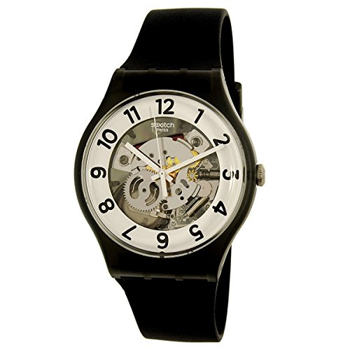 Swatch Men's Skeletor SUOB134 Black Rubber Swiss Quartz - For Swatch Men